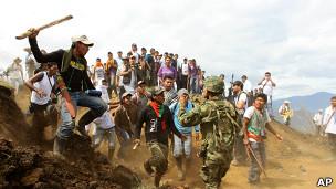 Enfrentamiento en entre indígenas y soldados