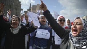 Женщины на площади Тахрир