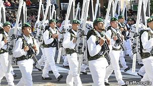 Desfile de militares españoles