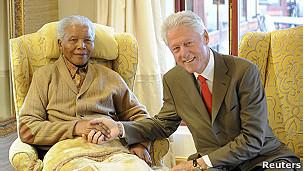 Нельсон Мандела и Билл Клинтон