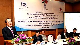 Phó Thủ tướng Nguyễn Thiện Nhân phát biểu tại hội thảo quan hệ Việt-Ấn