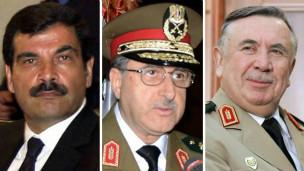 叙利亚国防部副部长阿塞夫(左)和国防部长拉吉哈(中)和国家安全局危机应对室主任图尔克马尼。