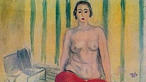 Detalle del cuadro Odalisca en Pantalón Rojo de Henri Matisse