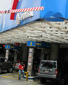 Gasolinera venezolana