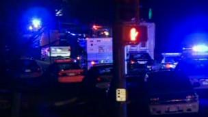 Ambulancias en la noche