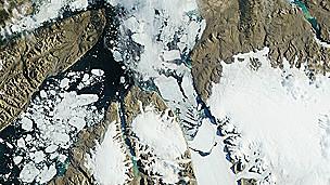 Iceberg, glacial de Petermann