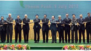 东盟外长会议上周在柬埔寨首都金边举行。