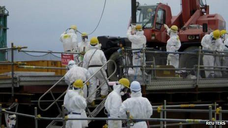 Công nhân nhà máy Fukushima