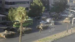 Les forces gouvernementales à Damas.