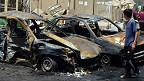 Autos destruidos en Irak