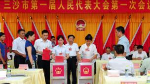Các đại biểu hội đồng nhân dân 'Tam Sa' bầu lãnh đạo