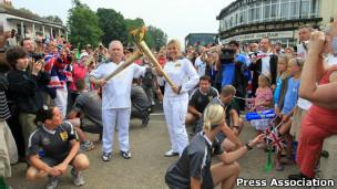 Tocha olímpica em Londres (Foto Press Association)