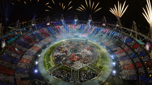 La cérémonie d'ouverture des JO de Londres.