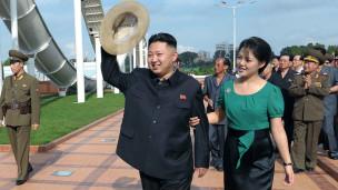 Vợ chồng ông Kim Jong-un