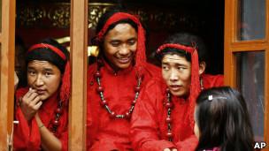 在尼泊尔的流亡藏人