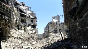 ویرانی در حلب