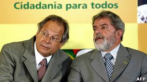José Dirceu y Luiz Inácio Lula da Silva