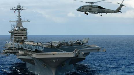 Tàu sân bay USS John C. Stennis đang tập trận gần Guam