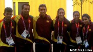 Sri Lanka Olympic team in London