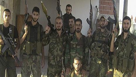 Rebeldes en Siria