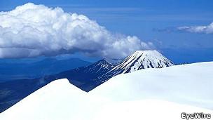 Monte Tongariro, localizado na Nova Zelândia