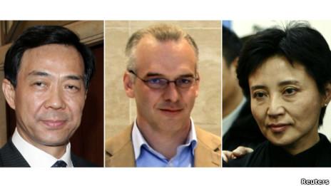 Vợ chồng ông Bạc Hy Lai và doanh nhân Neil Haywood (ở giữa)