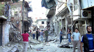 Tình trạng tàn phá do giao chiến tại Syria