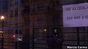 Local onde funcionava loja Escada, em Buenos Aires (Foto: Marcia Carmo)