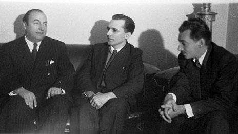 Pablo Neruda, Luis Carlos Prestes e Jorge Amado (Foto: Acervo Zélia Gattai / Fundação Casa de Jorge Amado)