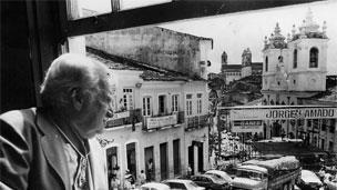 Jorge Amado no Pelourinho.