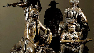 Mô hình tượng đài các quân nhân Texas trong cuộc chiến Việt Nam (Ảnh: stateman.com)