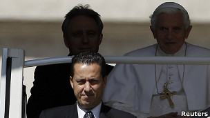 Paolo Gabrieli na Papa Benedict