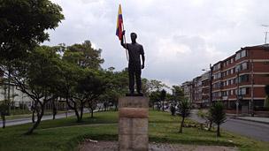 Monumento a Jaime Garzón en Bogotá