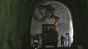 Obras no metrô (Foto: Sarah Robbins-BBC)
