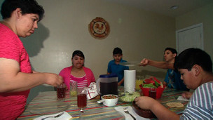 Alma Rivera y su familia