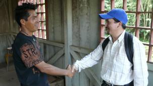 Ernesto Samaren y el ingeniero Matute