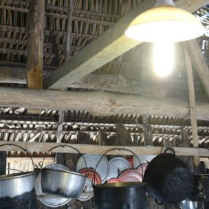 Luz en hogar de Tukup