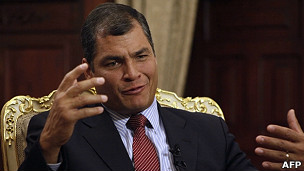 O presidente do Equador, Rafael Correa (AFP)