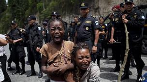 Desalojo en Guatemala