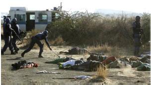 Baadhi ya miili ya wachimba migodi waliouawa na polisi Afrika Kusini