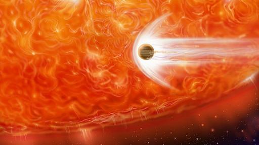 Una estrella se come a un planeta