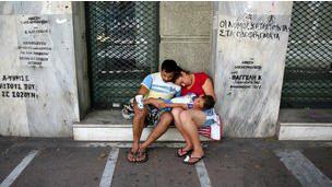 Sin hogar en Grecia