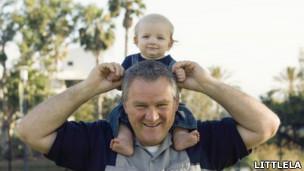 Stephen Box y su hijo