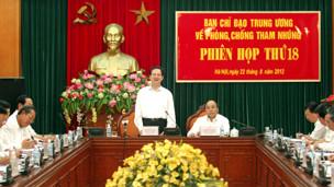 Thủ tướng Nguyễ́n Tấn Dũng chủ trì cuộc họp