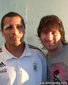 Silvio Velo y Messi.