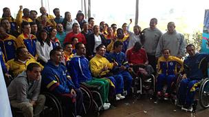La delegación colombiana que estará en los Juegos Paralípicos Londres 2012