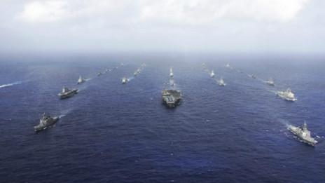 Hải quân Mỹ và Nhật tập trận