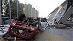 Scene of the place where bridge collapsed