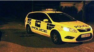 Patrulha da polícia de Essex