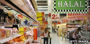 Supermercado con productos halal